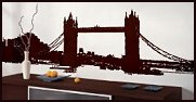 London Bridge 10ft  wall mural sticker