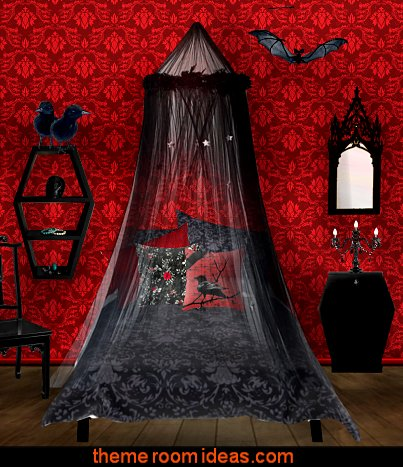 Gothic Bedroom Ideas Decor Decorating Furniture Bedding Goth Room Black Bedrooms Purple Glam