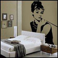 Audrey Hepburn Breakfast At Tiffanys Wall Vinyl Decal 50 S Hollywood Theme Room
