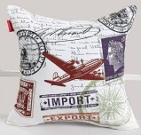 travel theme Decorative Print Square Pillow Cover Case Cushion Cove