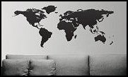 World Map Globe Earth Country wall decals - global travel decor - travel bedroom decor