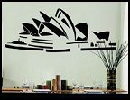 sydney australia wall decal stickers - travel the globe bedroom decor - travel decor