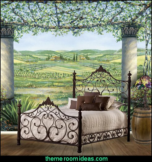 Tuscany Grapes Bedroom Decorating Grape Decor For Kitchen Wine Barrel Tuscan Farmhouse Vineyard Theme Style Bedrooms
